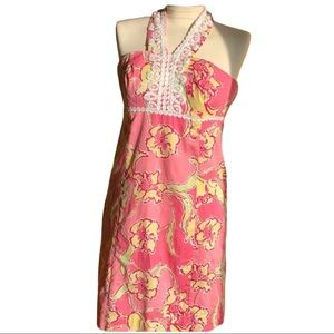 Lilly Pulitzer Floral Sleeveless Dress Size 4